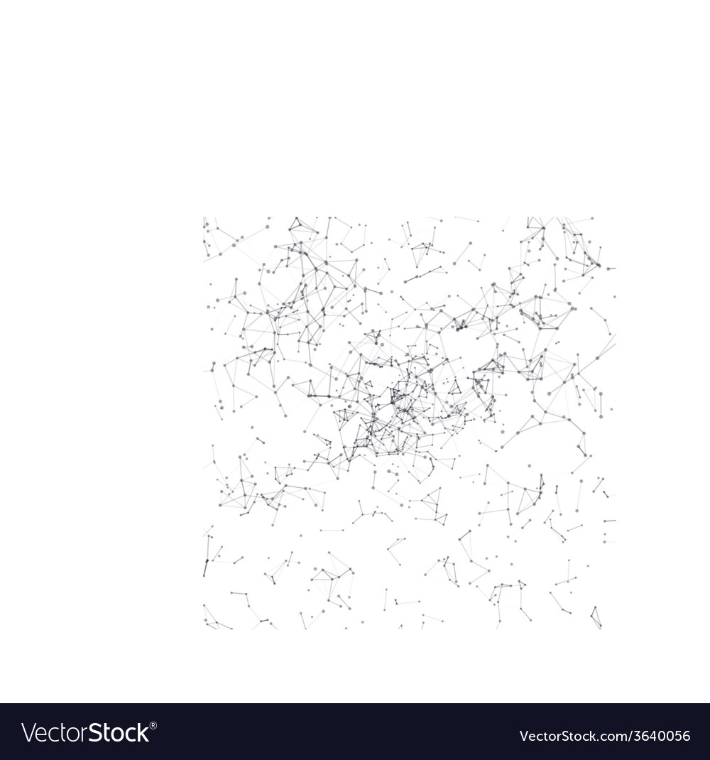 Abstract background black connecting dots on white vector