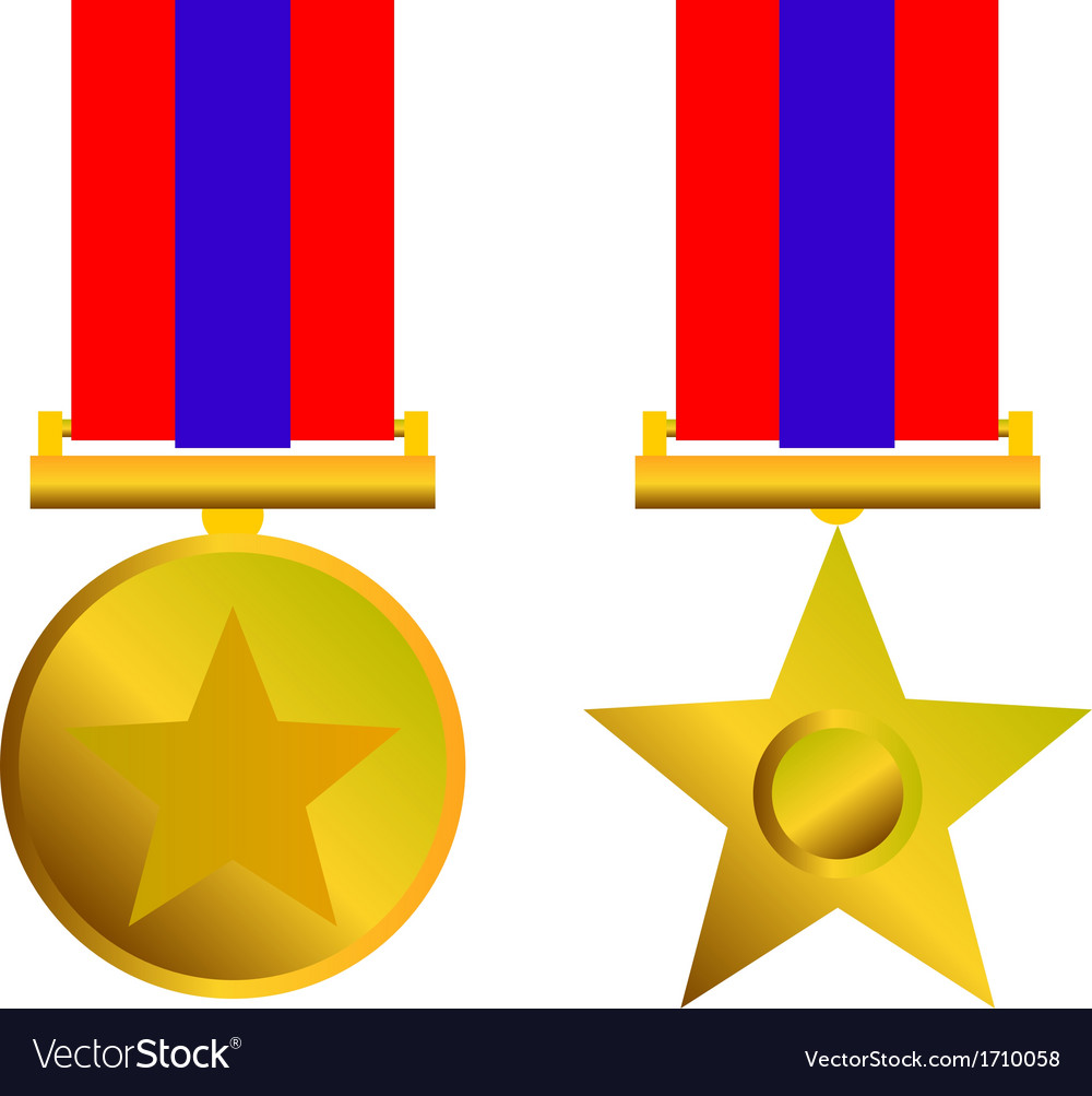 Military bravery medal of honor isolated vector