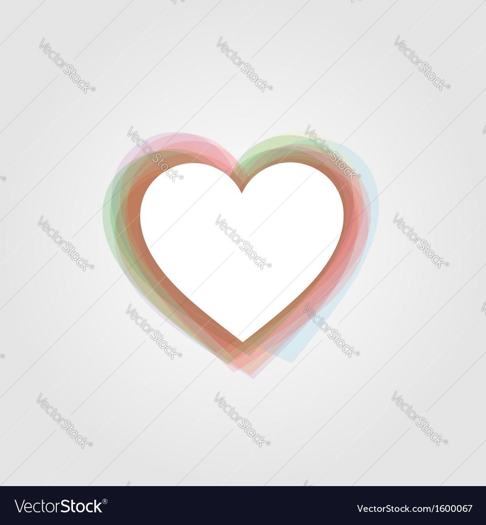 Heart text box vector