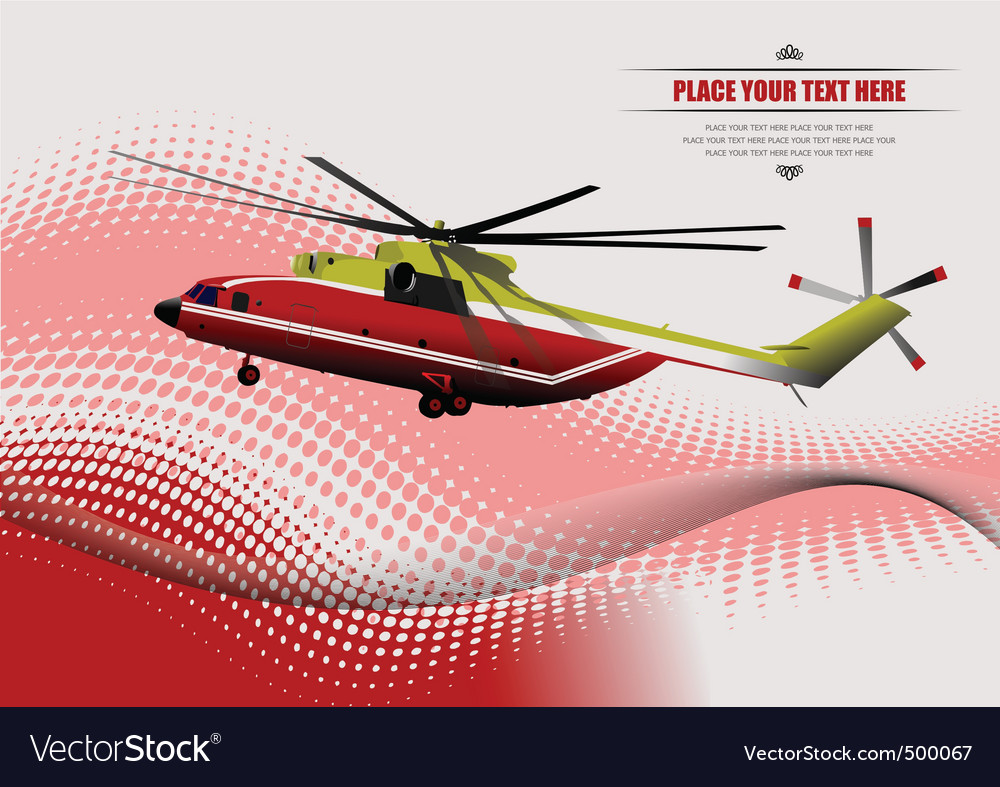 Rescue helicopter vector