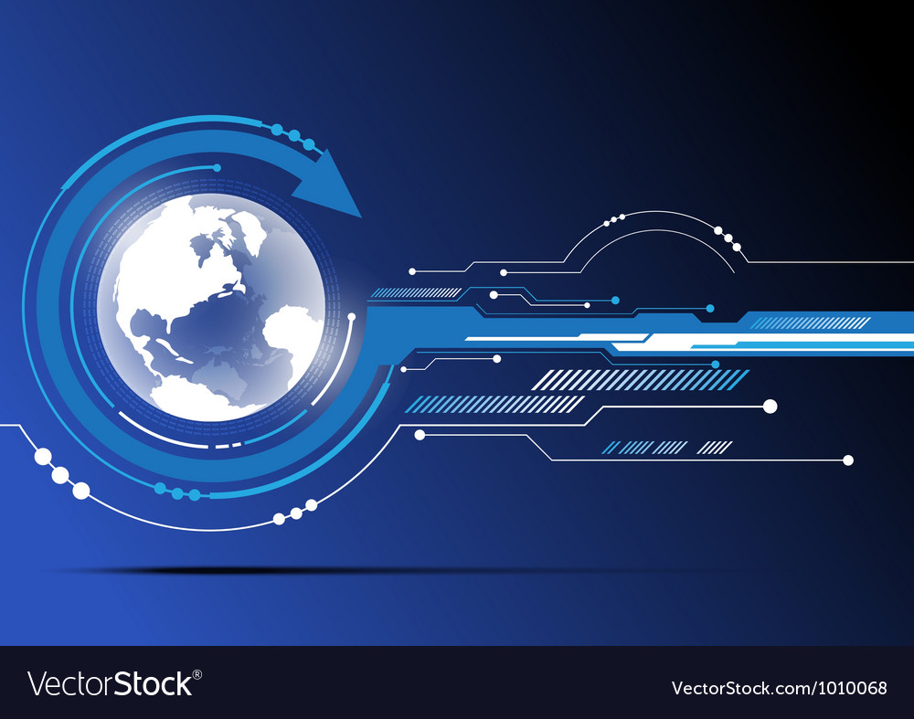 Globe and technology background design vector
