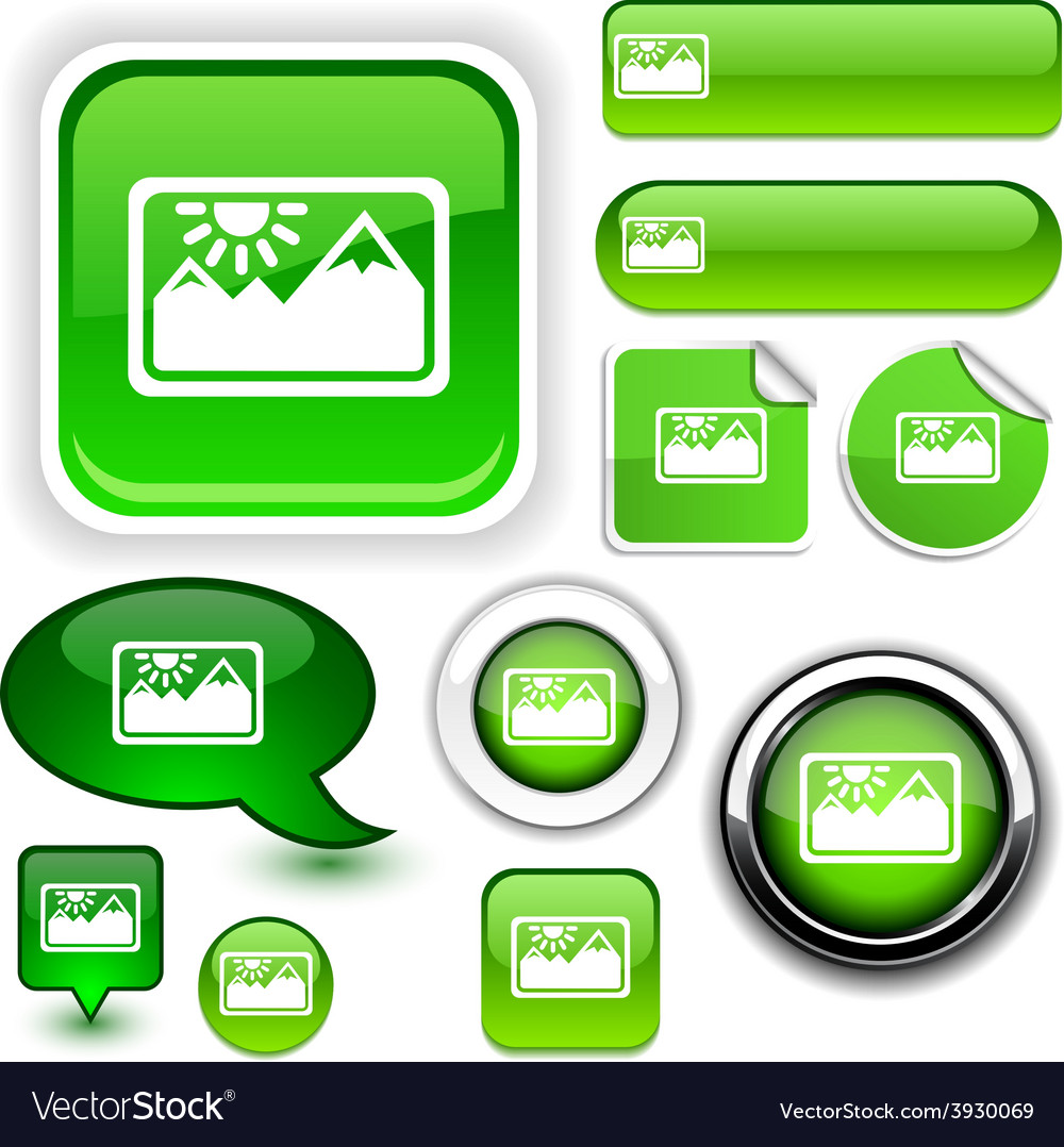 Picture green signs vector
