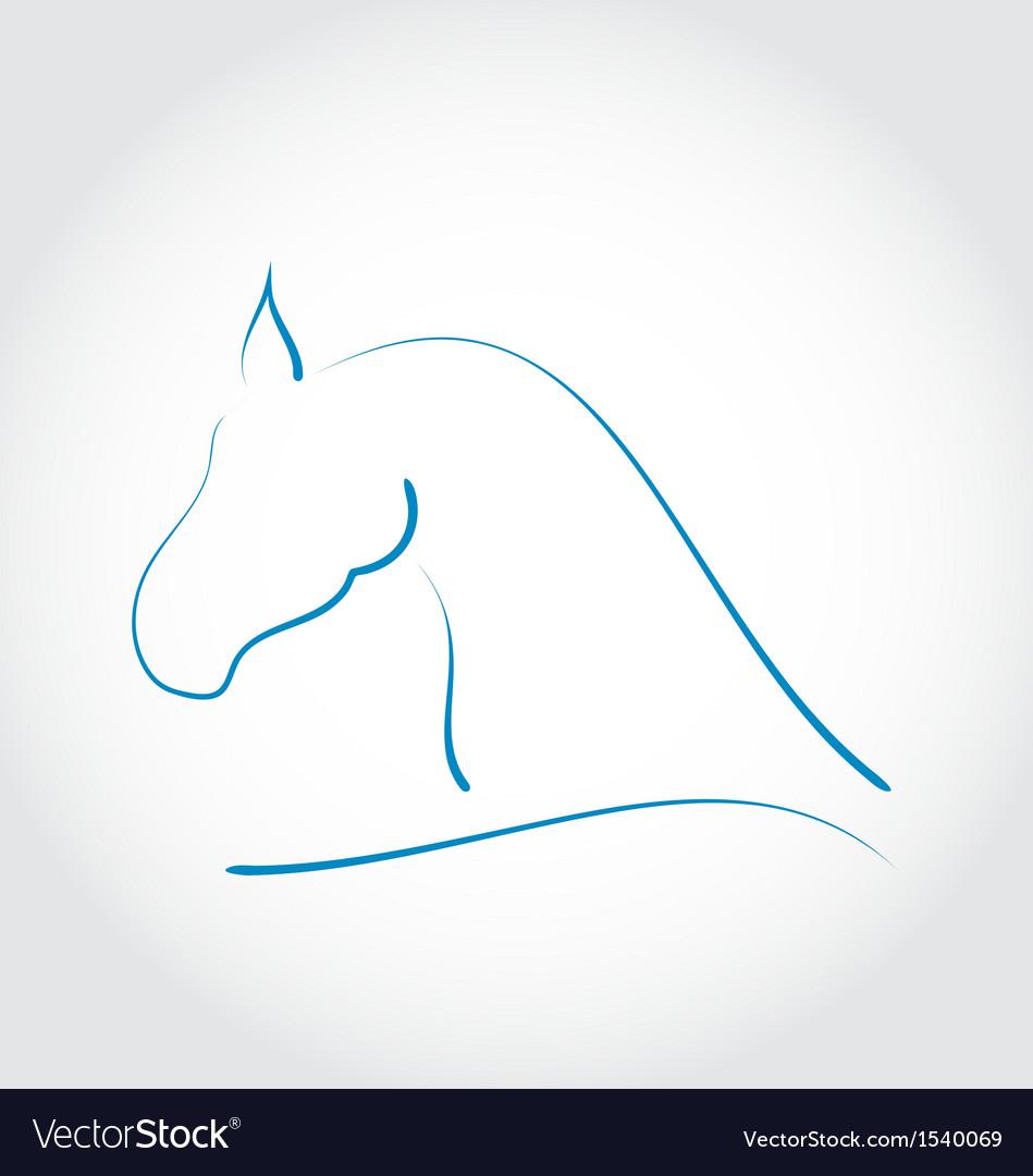 Stylazed emblem horse head vector