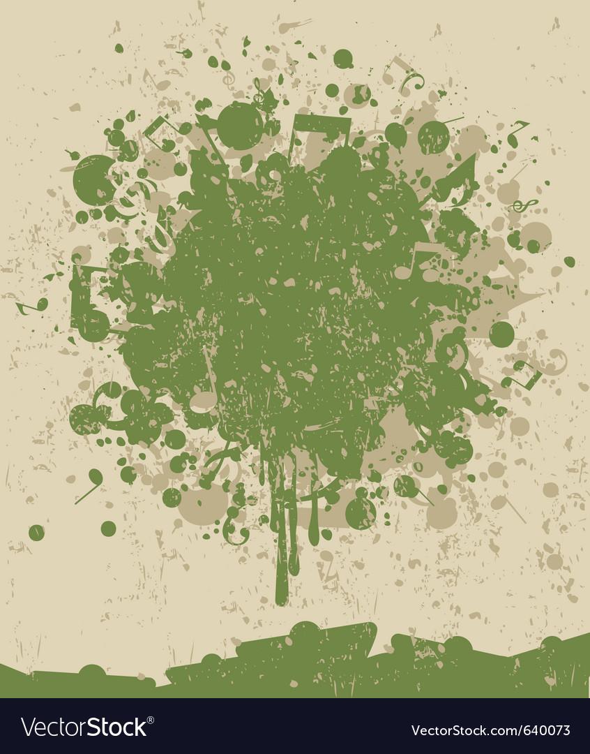 Music note splatter vector