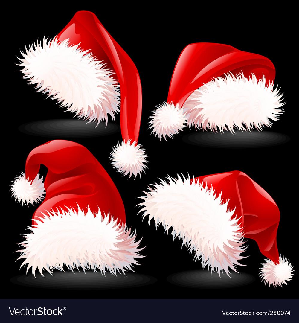 Santa hats vector