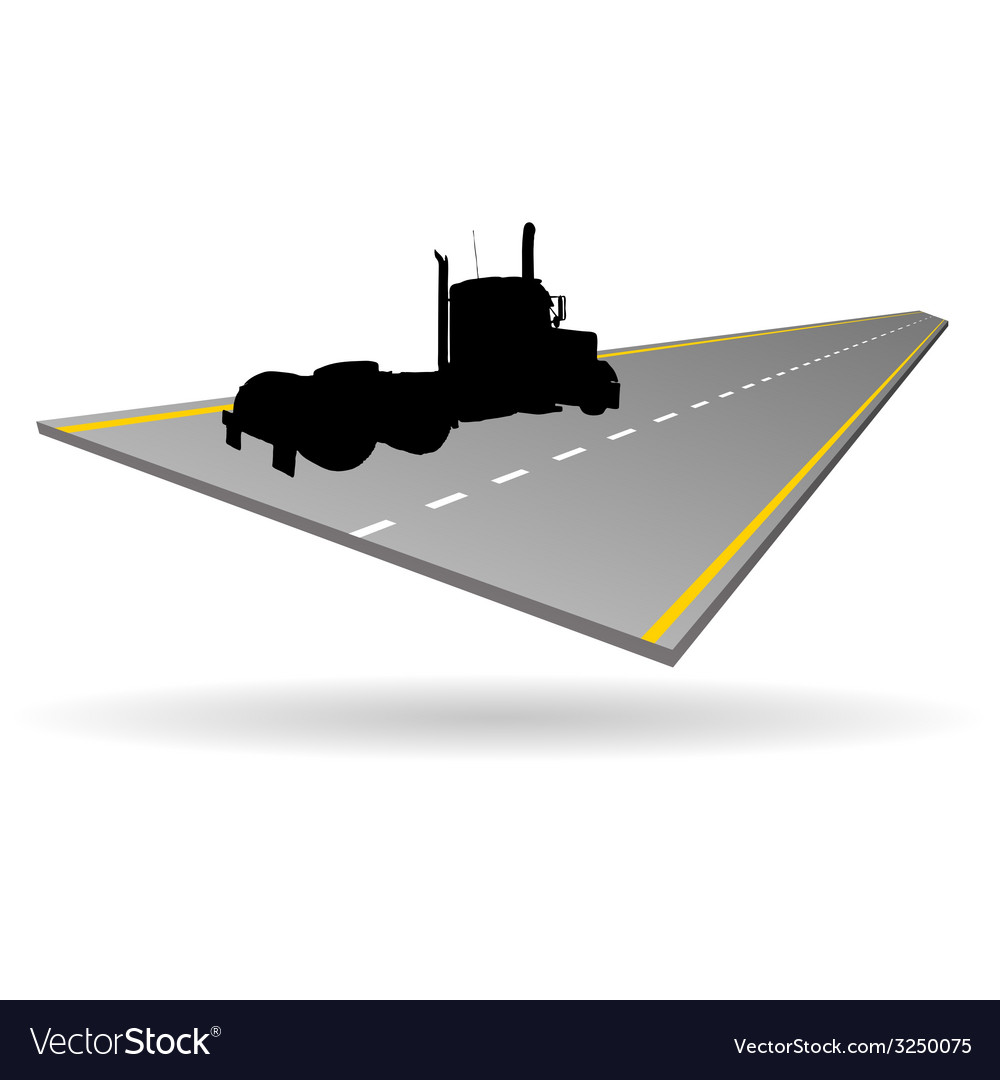 Truck on the road vector