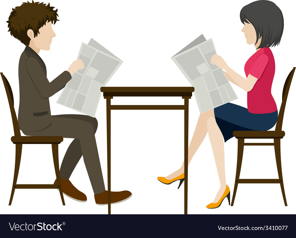 Faceless people with newspapers vector