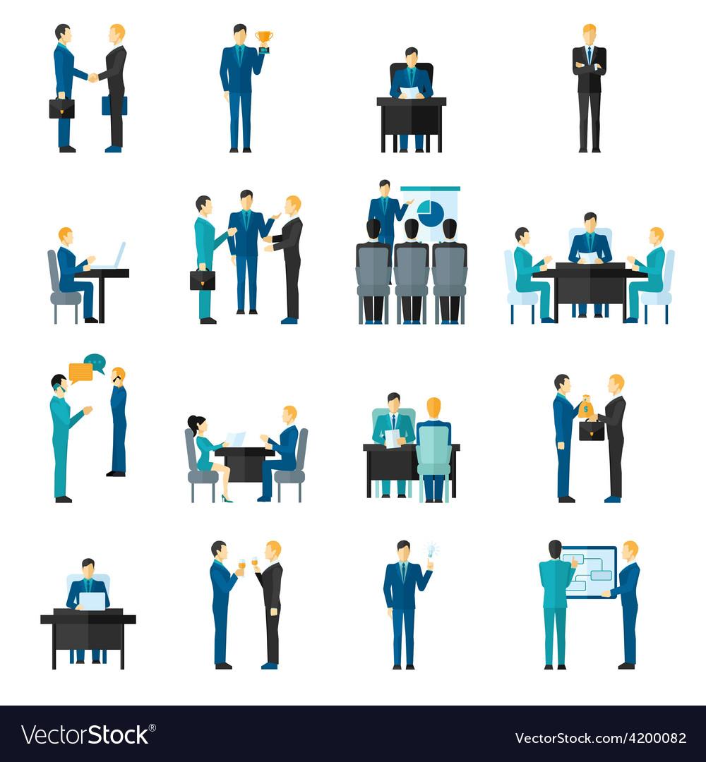 Business men set vector