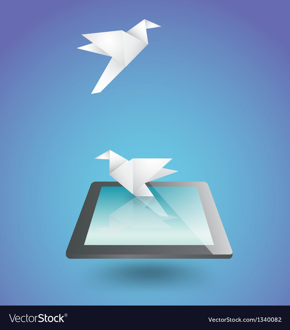 Freedom on technology vector