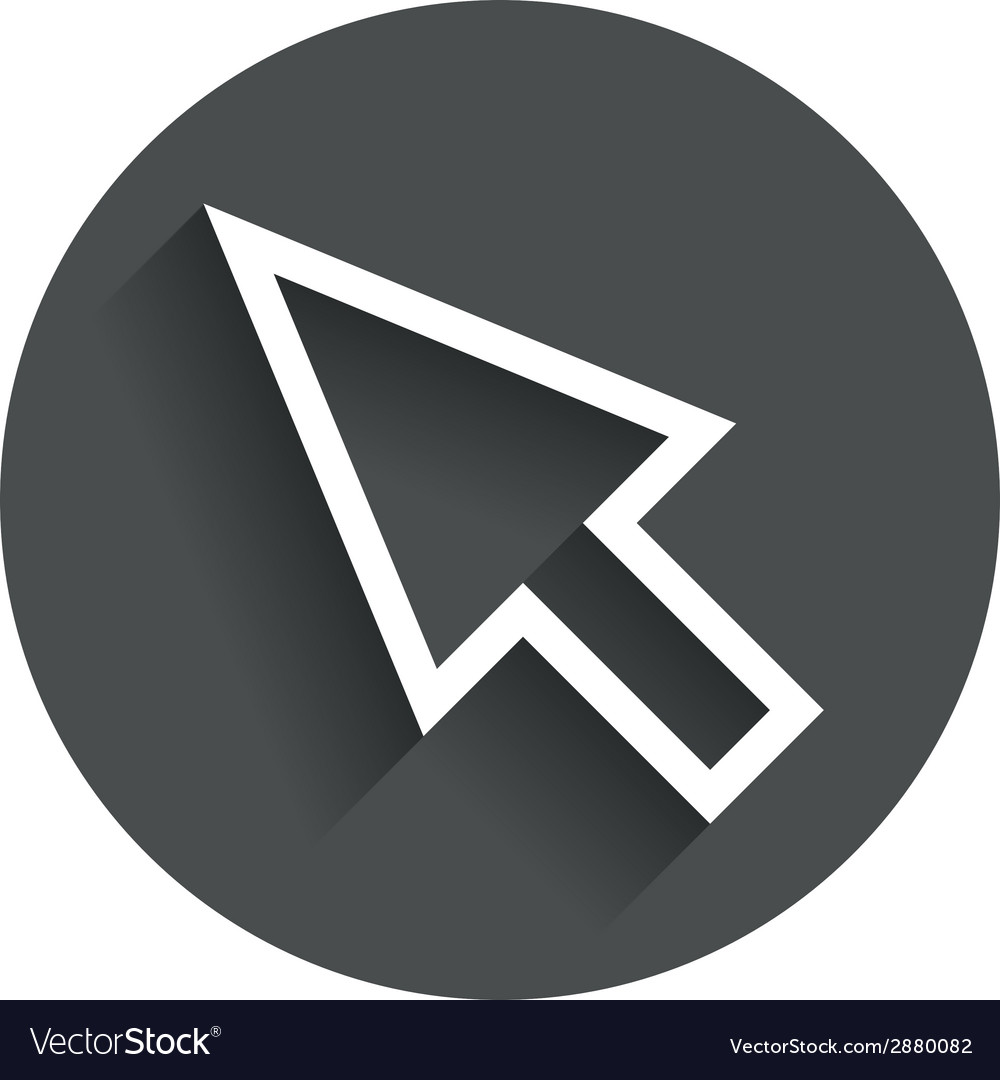 Mouse cursor sign icon pointer symbol vector