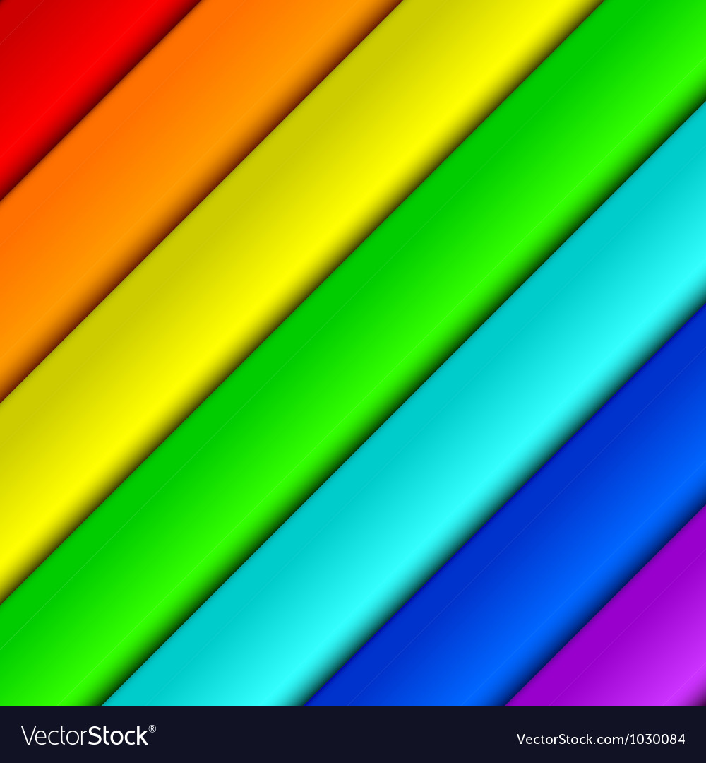 Diagonal spectrum panels vector