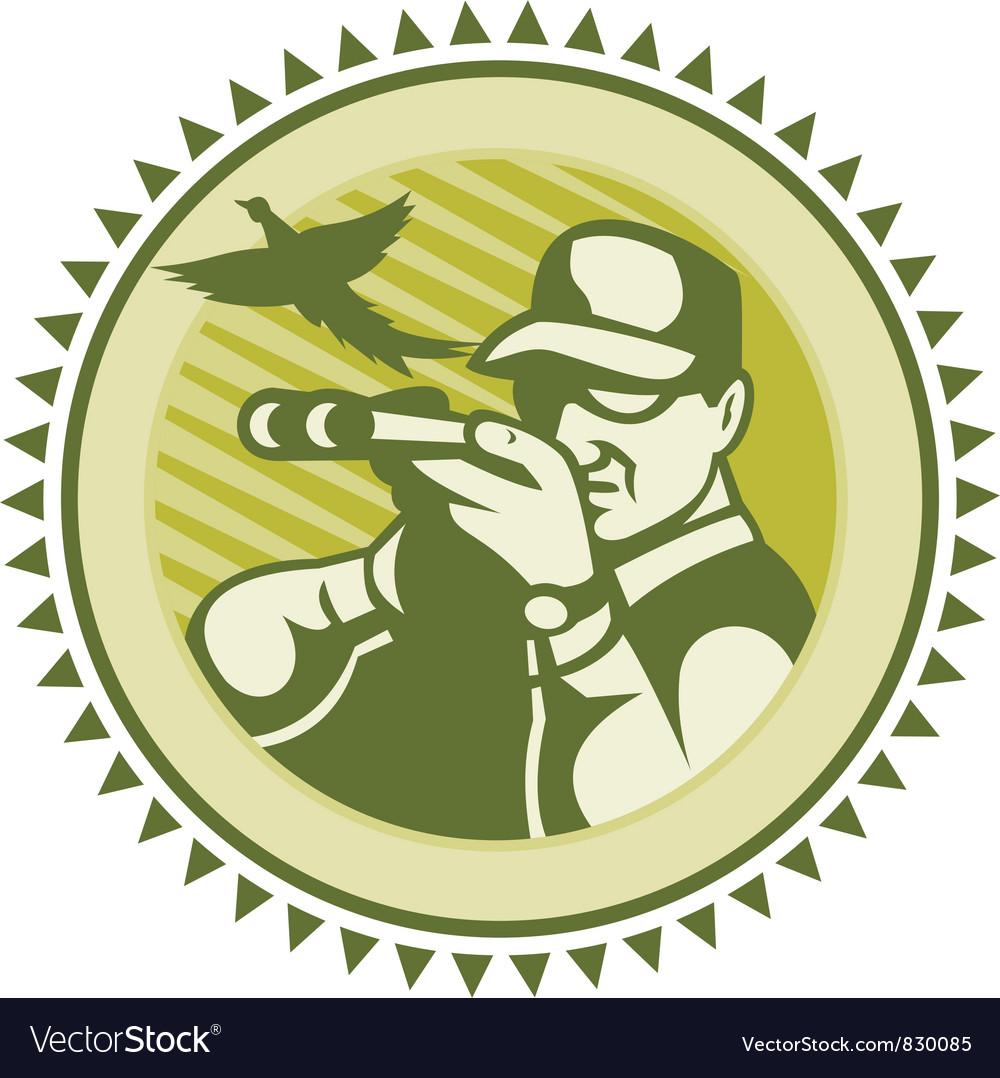 Vintage hunter icon vector