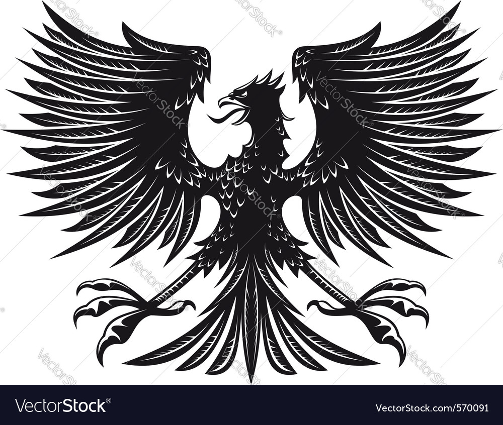Eagle for heraldry vector