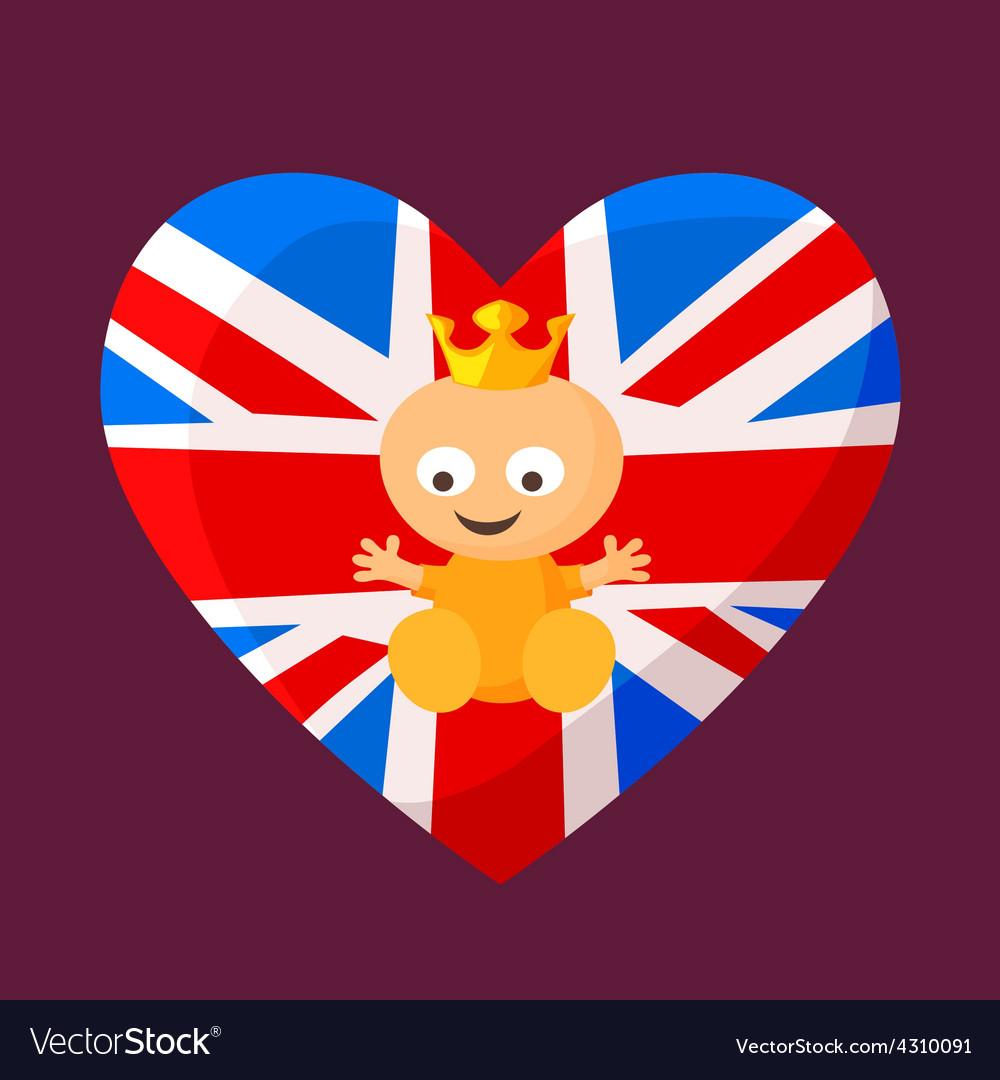 English royal baby vector