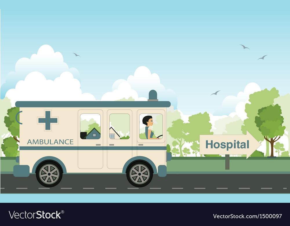 Hospital car vector