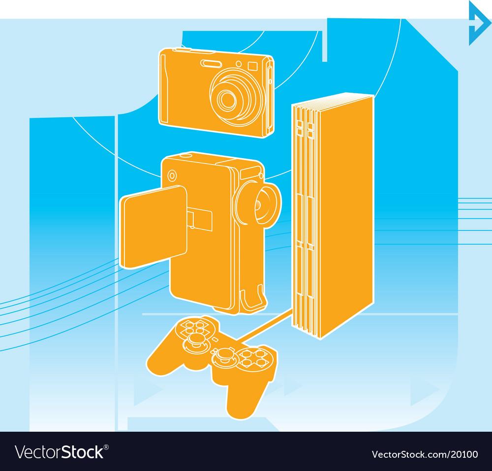 Entertainment technology vector