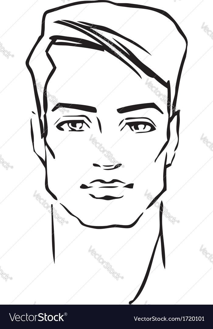 Man face fashion model vector