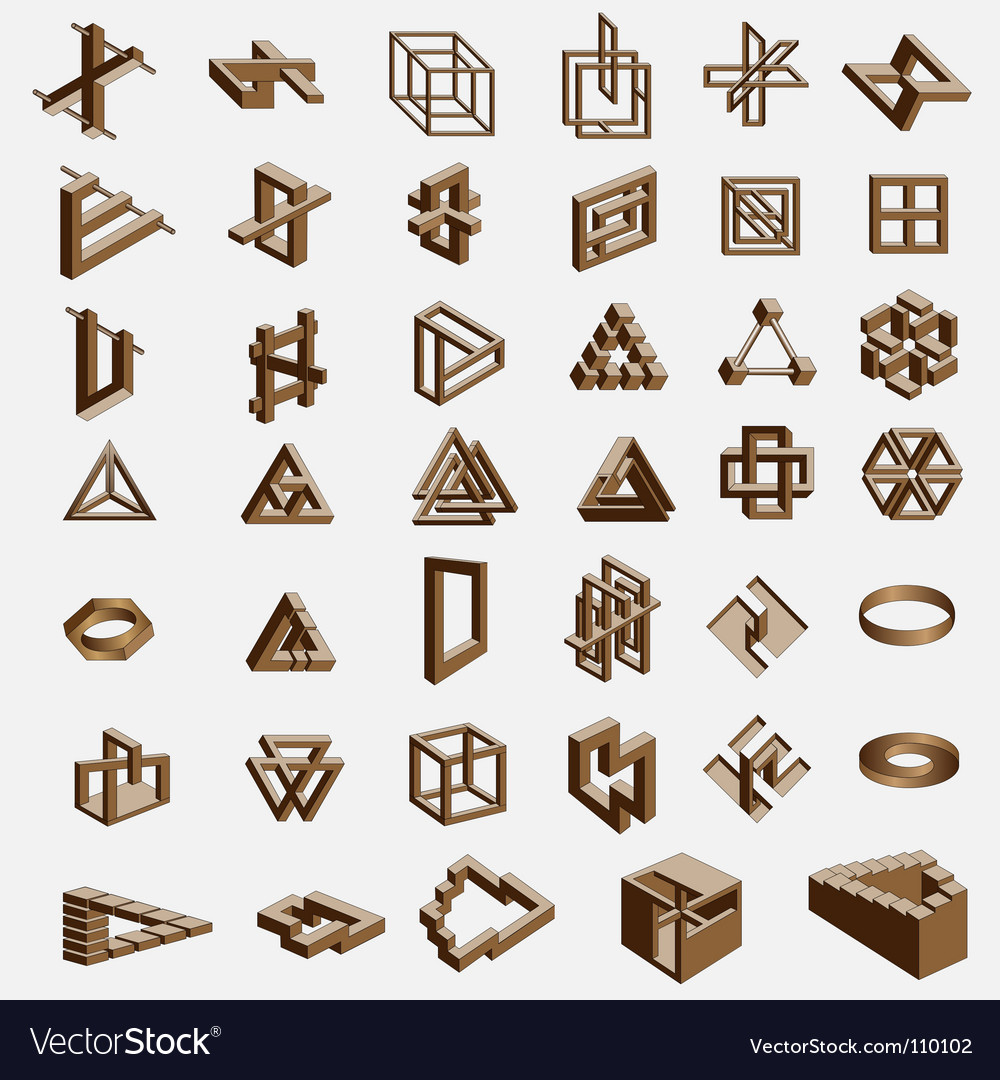 Impossible objects vector