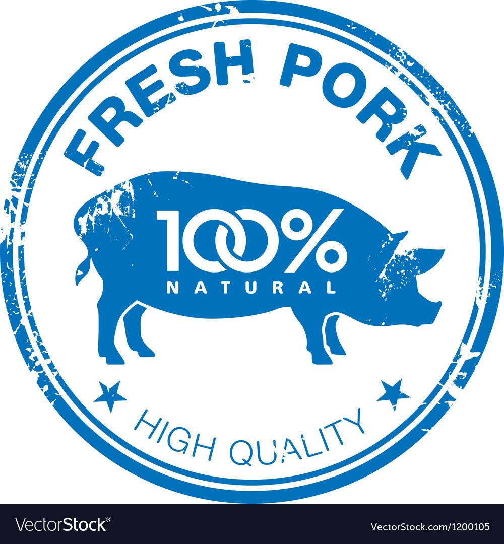 Pork stamp vector