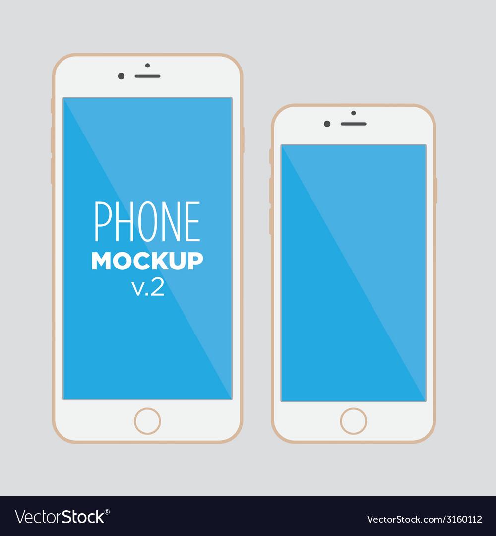 Phone mockup v2 vector