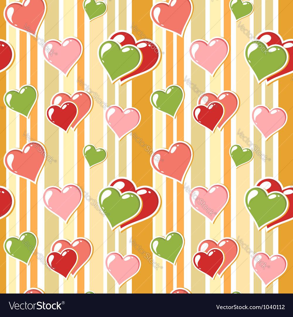 Valentine love stripped background vector