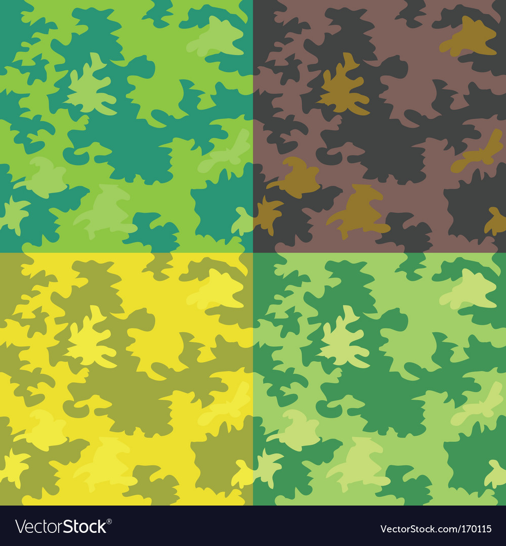 Forest patterns vector