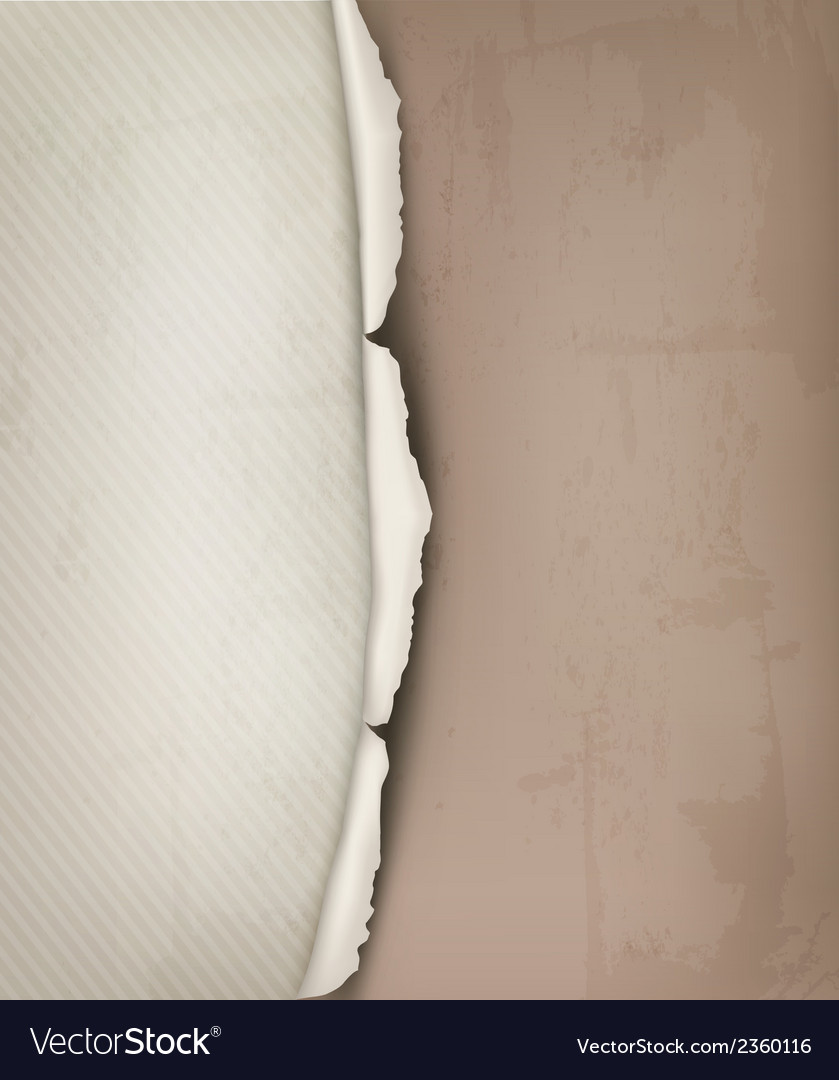 Background with ripped vintage paper vector