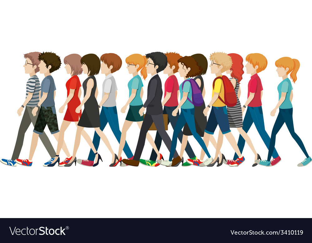 A crowd with no faces vector