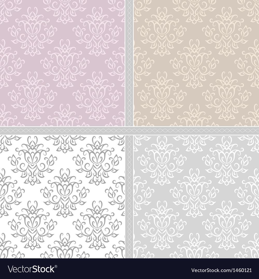 Damask ethnic textile pattern vector