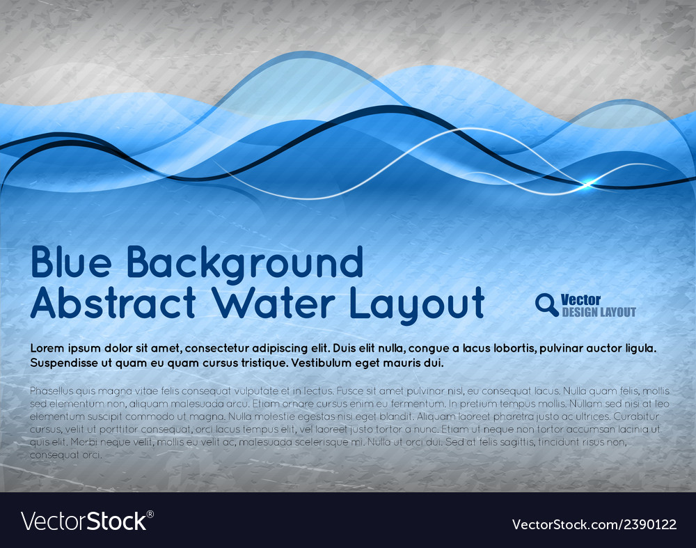 Blue water background vector
