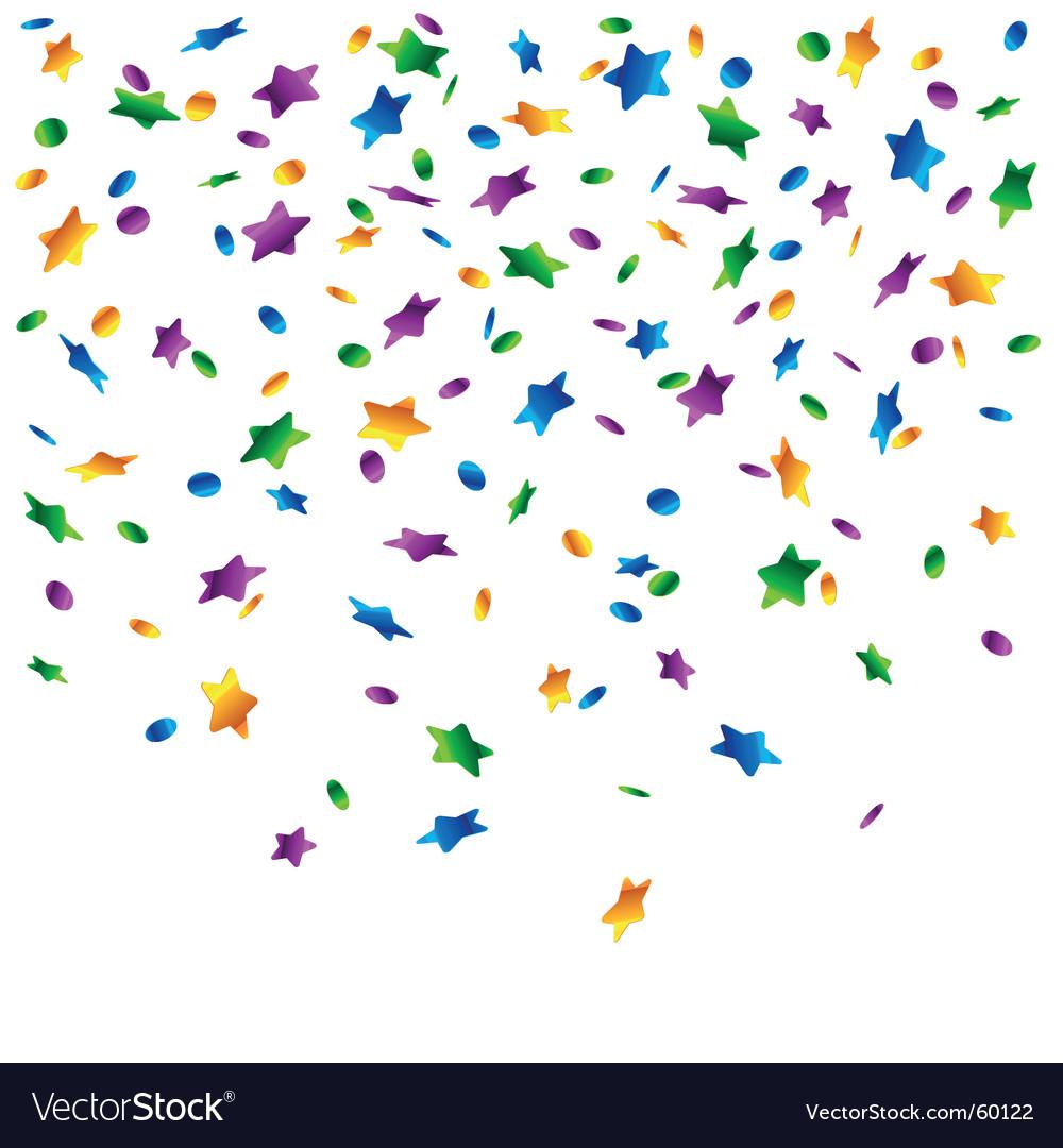 Confetti stars background vector