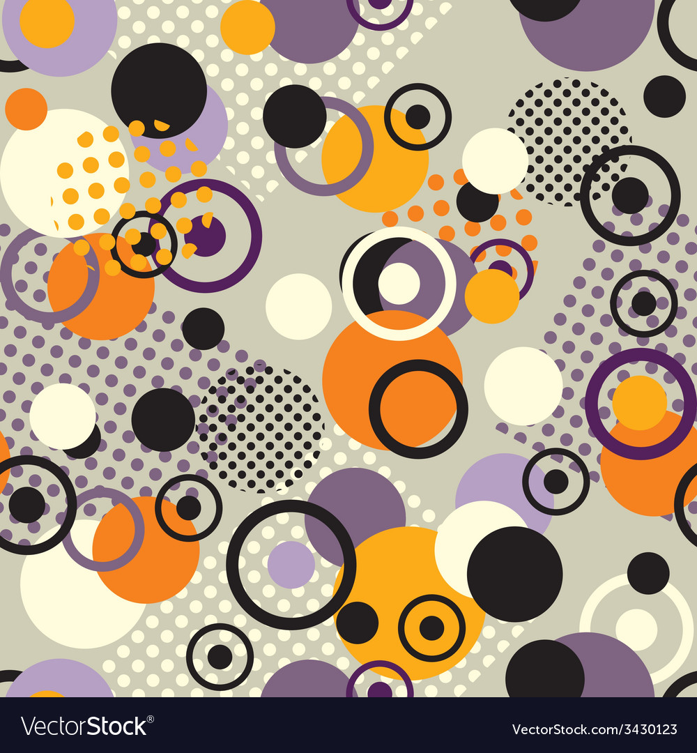 Retro circles pattern vector
