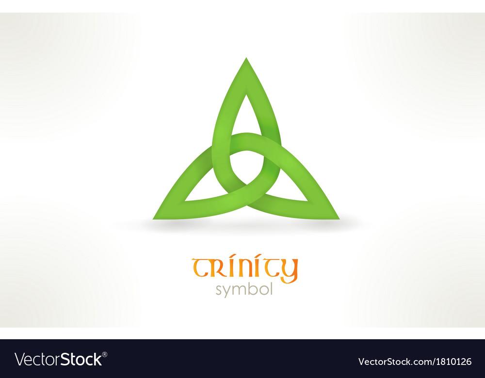 Trinity symbol triqueta vector