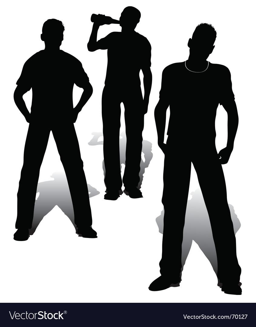 Boys group vector