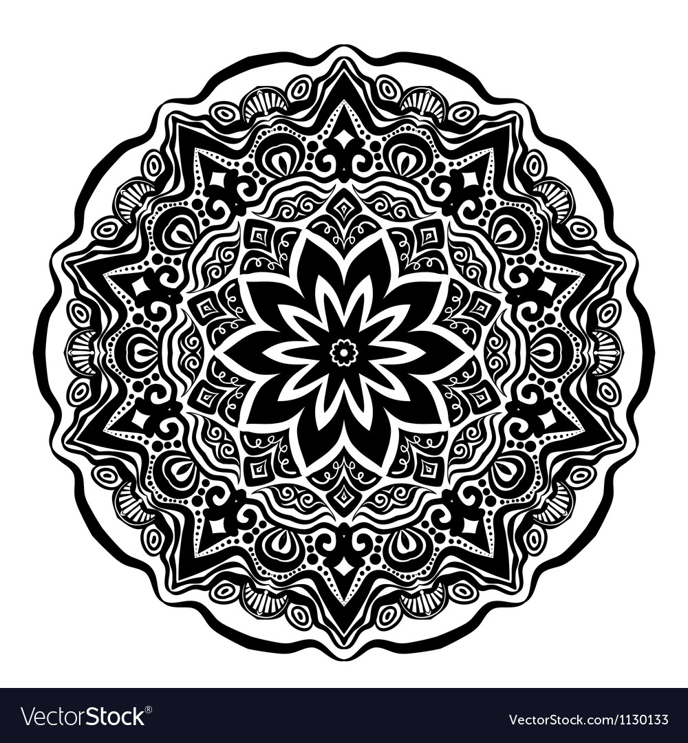 Ornamental lace pattern vector