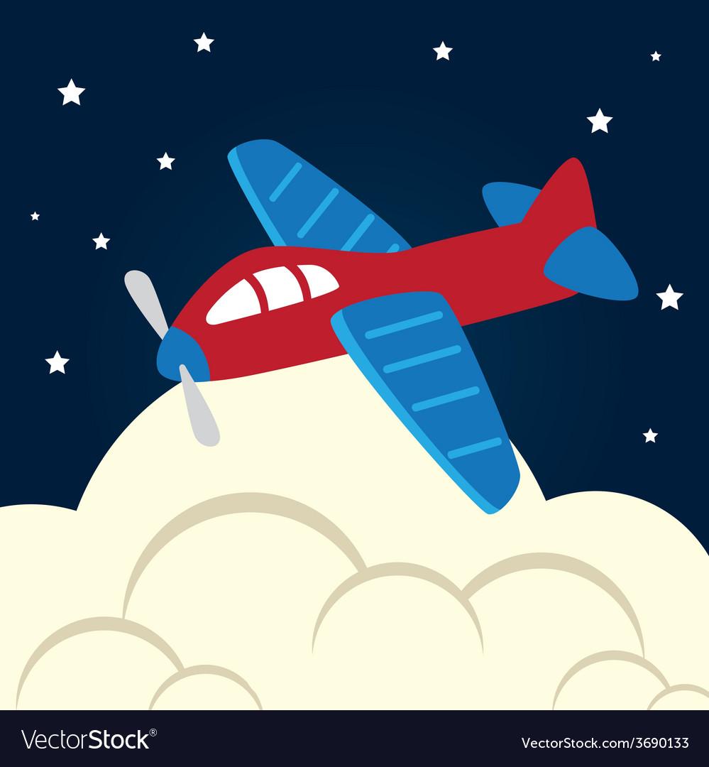 Toys design over cloudscape background vector