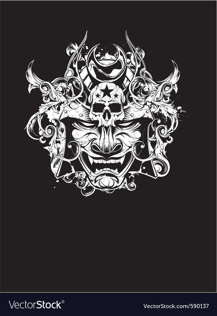 Shogun devil vector