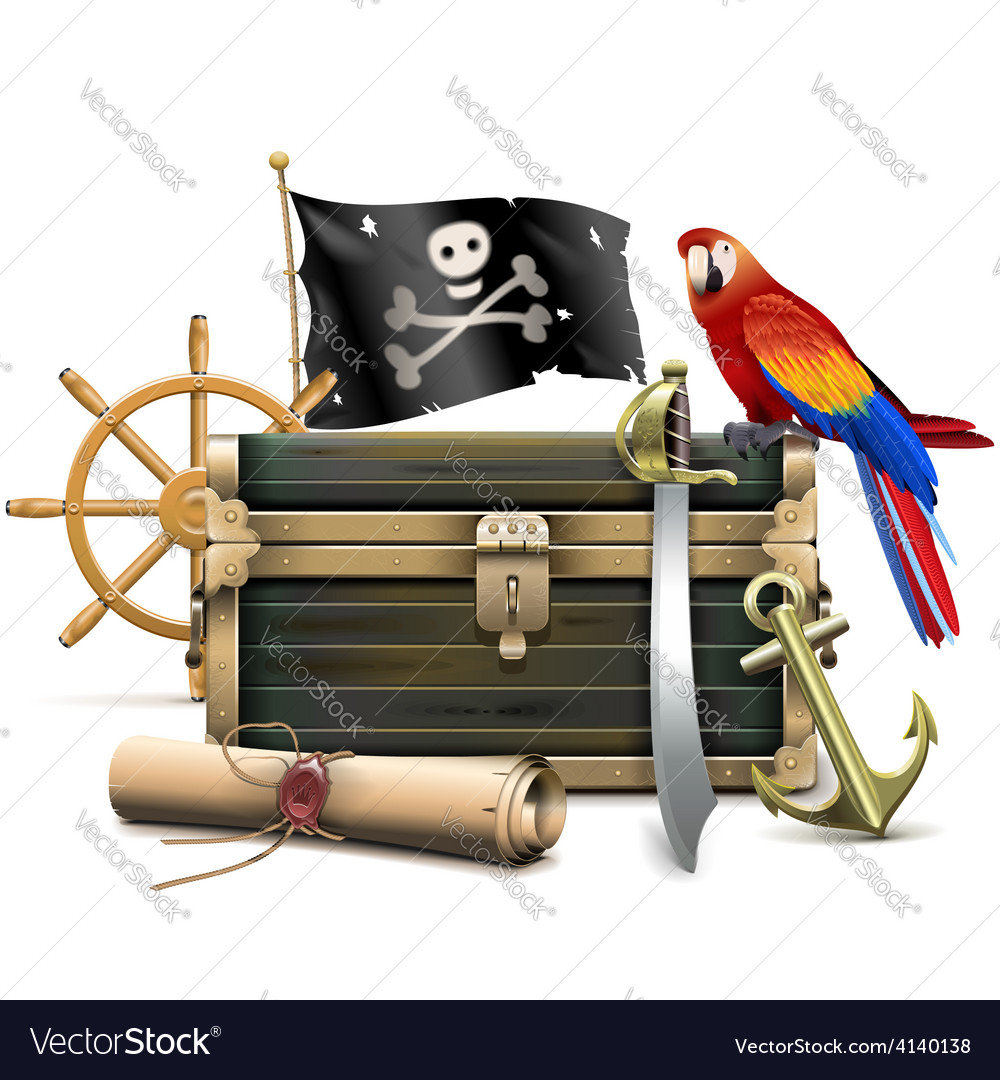 Pirate concept vector