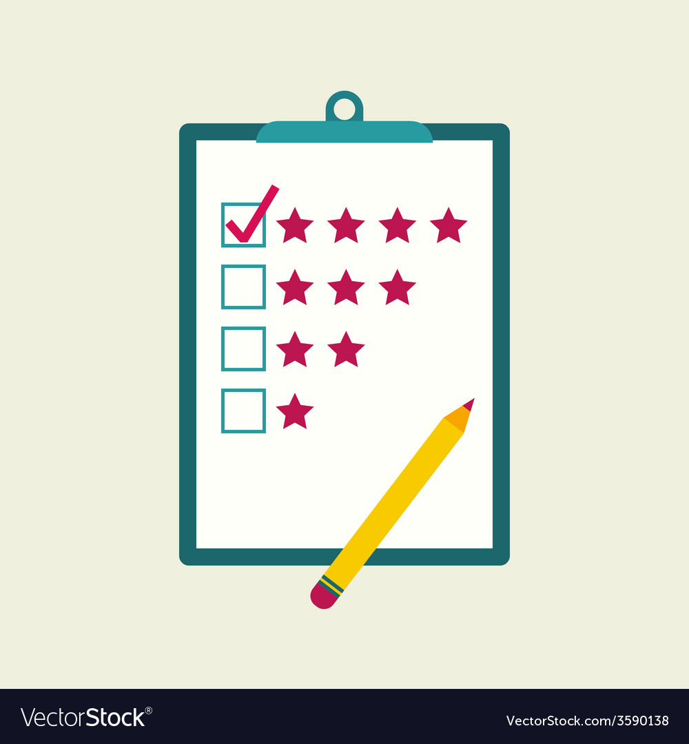 Tablet paper to the rating vector