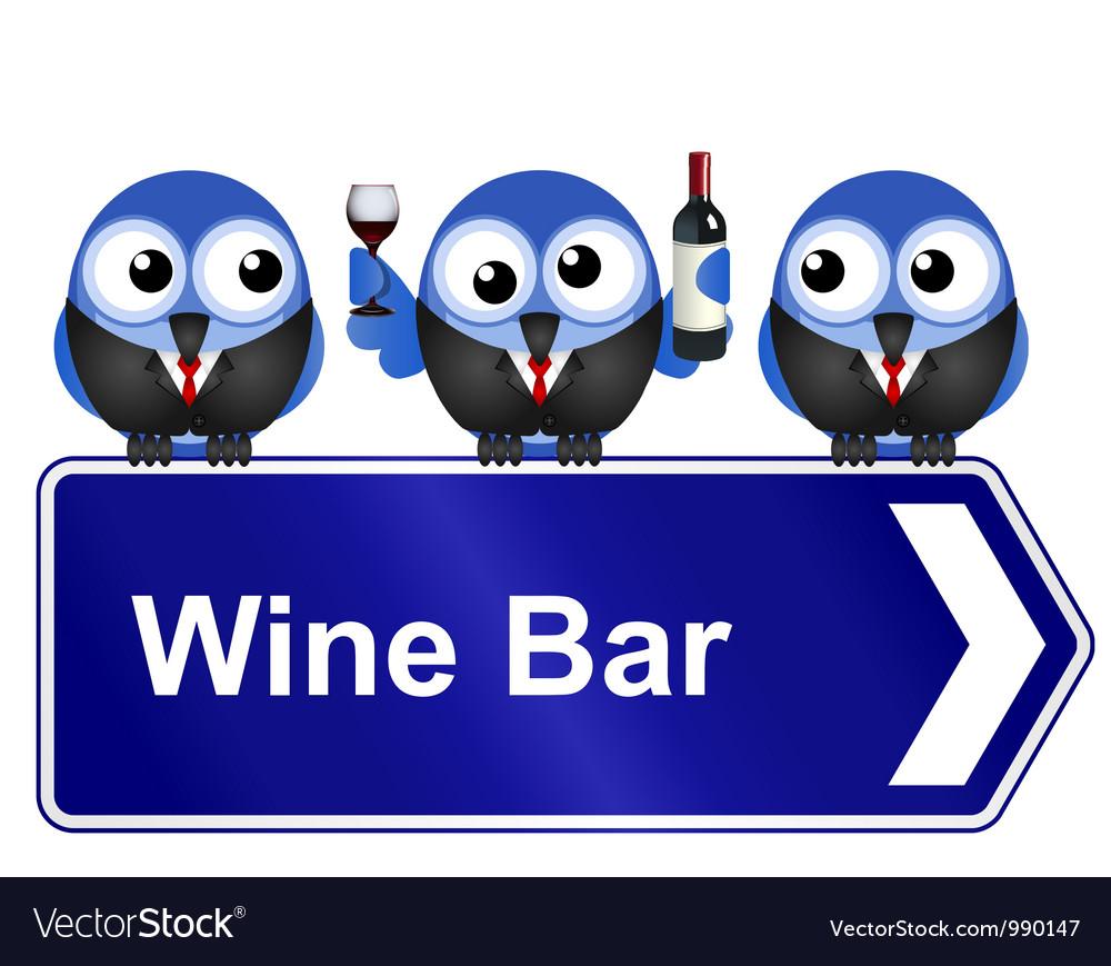 Wine bar vector
