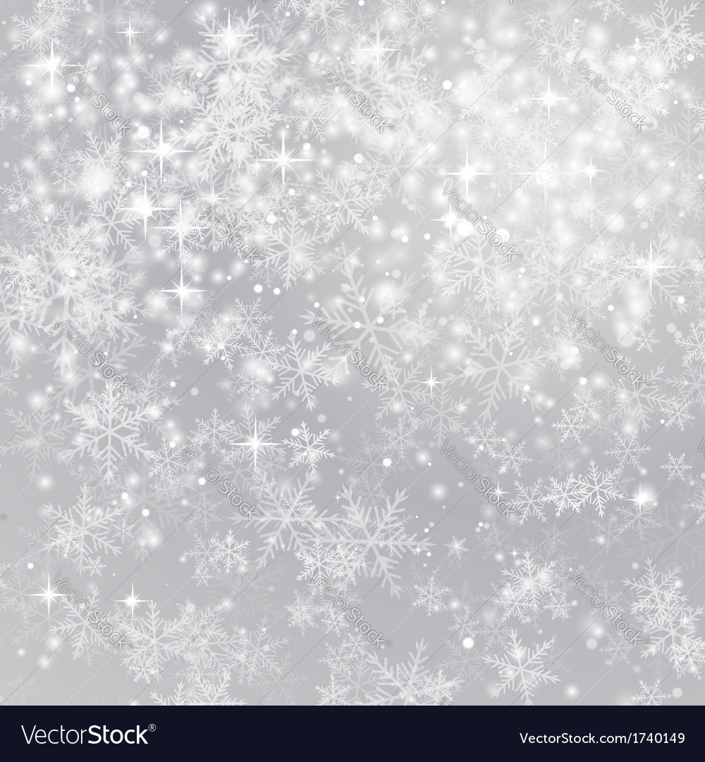 Snowflake background vector