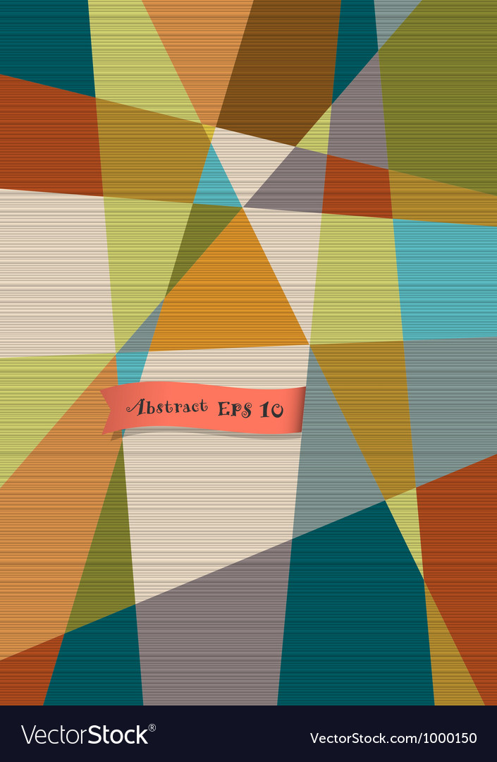 Retro textured geometric background vector