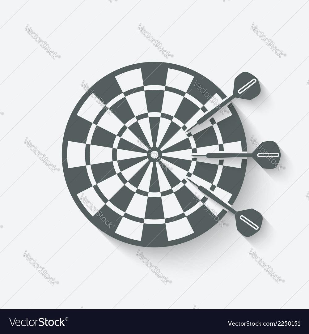 Darts sport icon vector
