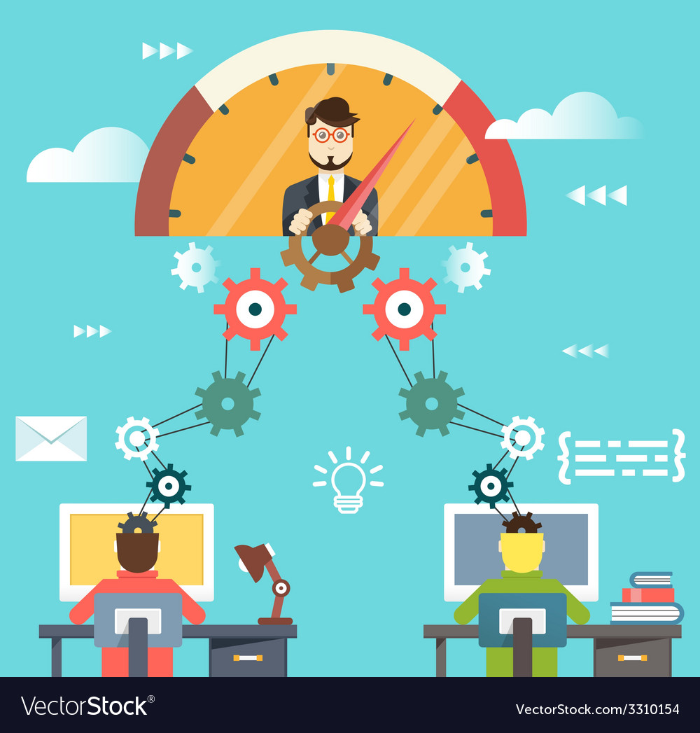 Management human resources and business success vector