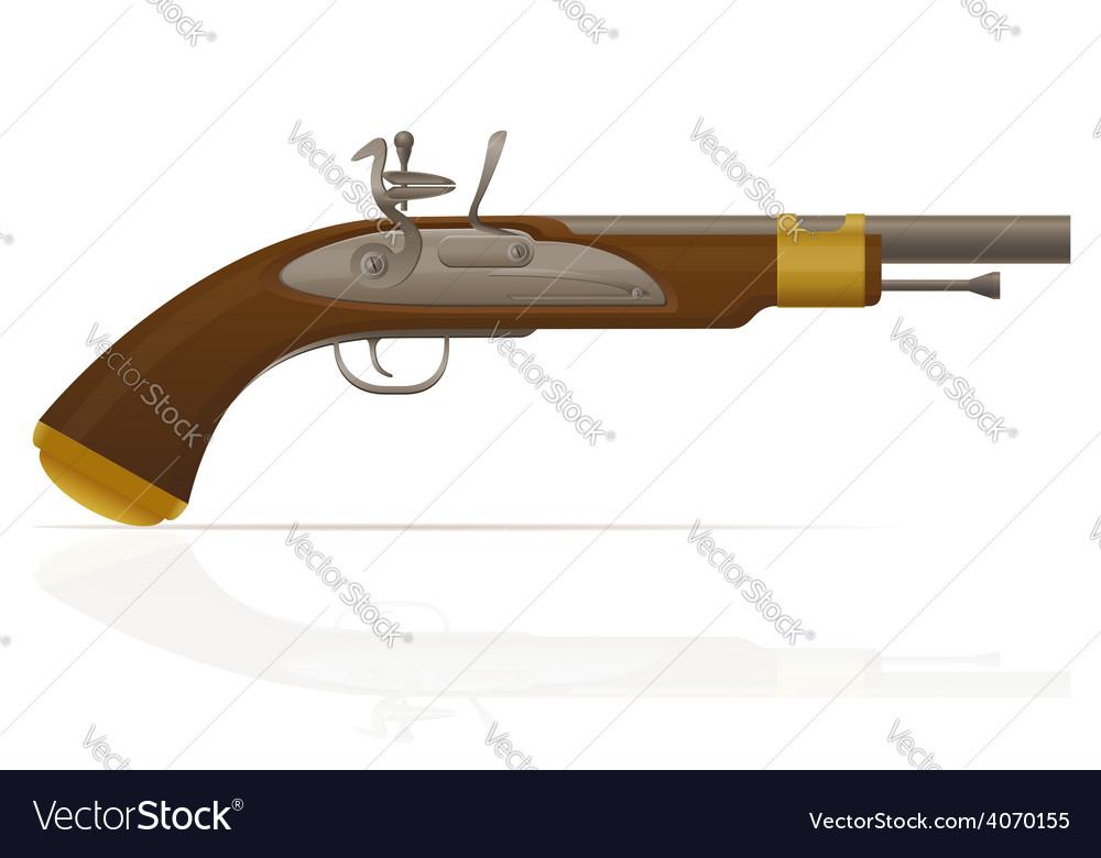 Flintlock pistol 01 vector