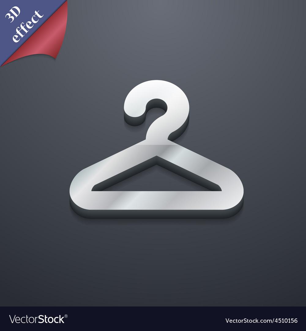 Hanger icon symbol 3d style trendy modern design vector