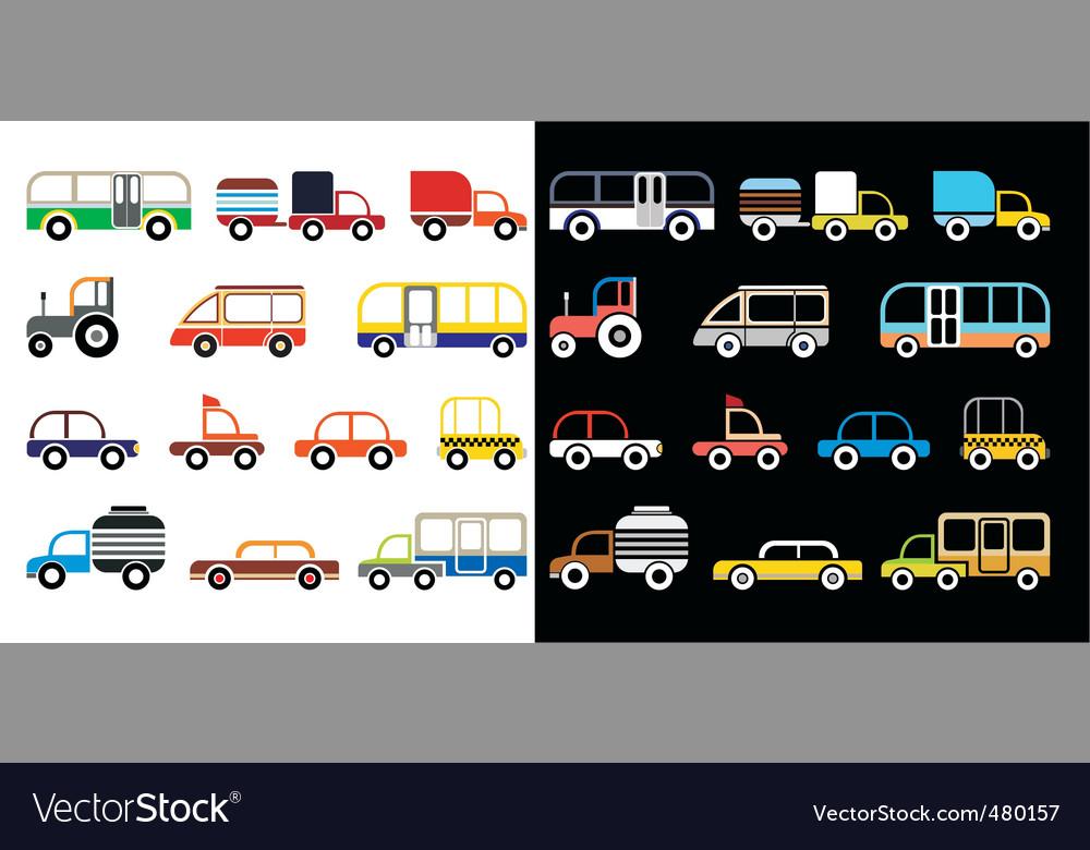 Cartoon cars vector