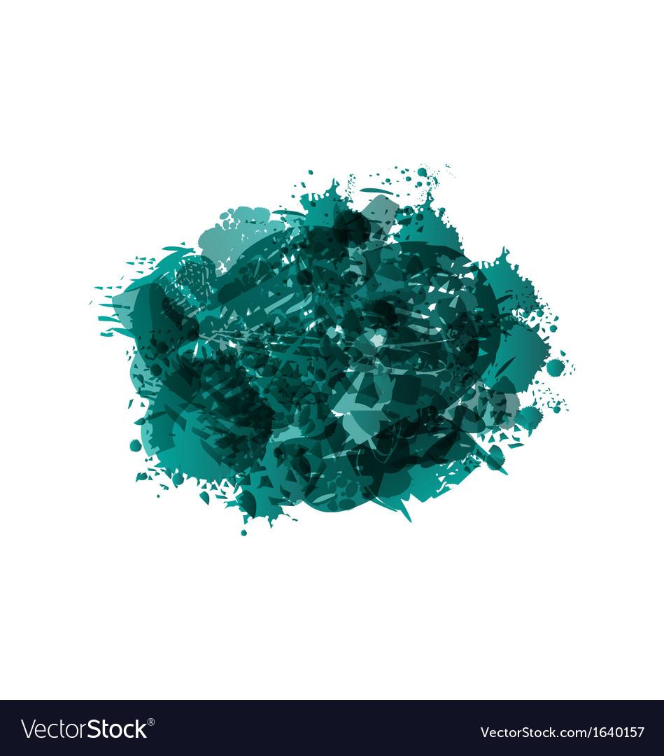 Grunge green spot frame vector