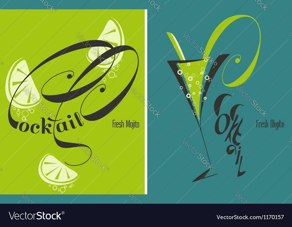 Mojito - fresh cocktail vector