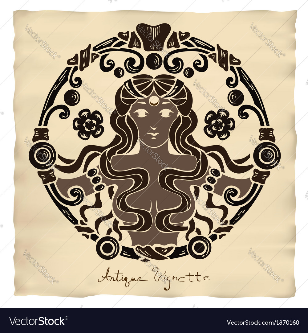 Antique vignette vector